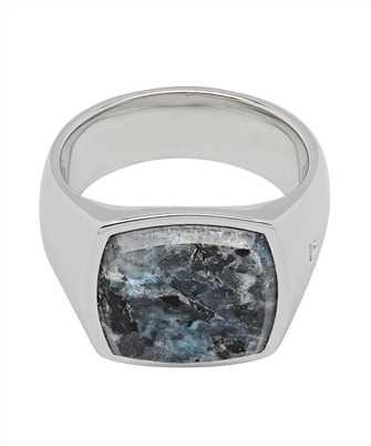 Tom Wood R74HP NW 01 CUSHION LARVIKITE Ring