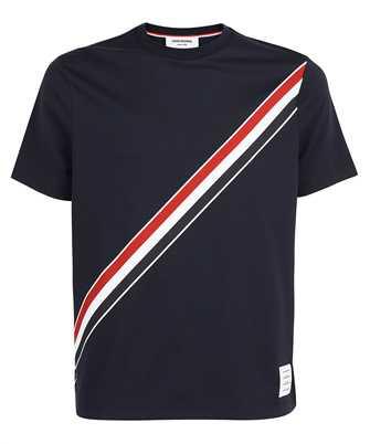 Thom Browne MJS157A 01454 RWB DIAGONAL STRIPE T-shirt