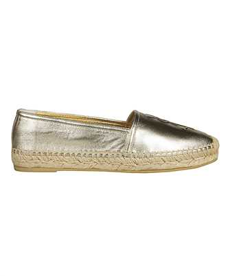 Saint Laurent 458573 0XQ00 GOLD Espadrilles