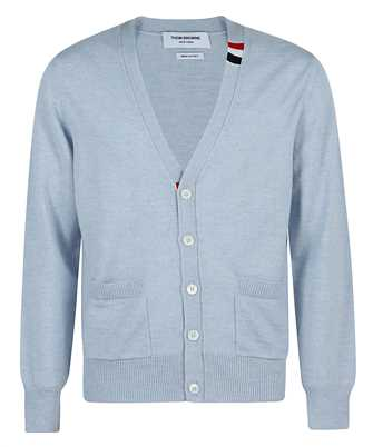 Thom Browne MKC313A Y1002 JERSEY STITCH RELAXED FIT V-NECK Cardigan