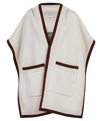 Burberry 8029000 LOGO GRAPHIC WOOL CASHMERE JACQUARD HOODED Poncho
