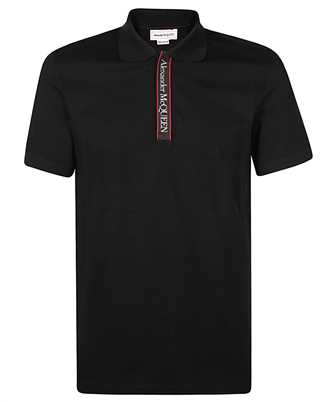 Alexander McQueen 642660 QQX77 COTTON PIQUET LOGO TAPE Polo