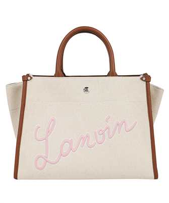 Lanvin LW BGTC01 CABR A21 EMBROIDERED CANVAS IN&OUT Bag