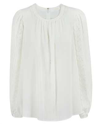 Chloé CHC21SHT02002 LACE-DETAIL SILK Top