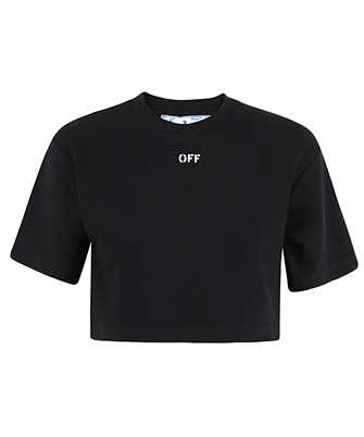 Off-White OWAA081R21JER001 RIB CROPPED CASUAL T-shirt