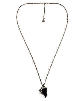 Alexander McQueen 634105 I742Y EVENING BLACK GLASS Necklace