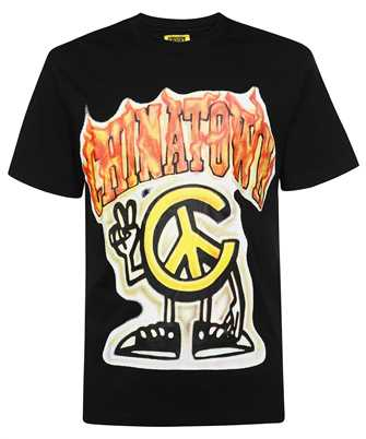 Chinatown Market 1990546 PEACE GUY FLAME ARC T-shirt