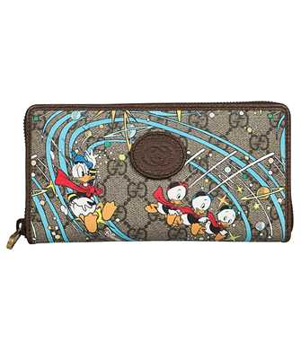 Gucci 647940 2M1AT DONALD DUCK ZIP AROUND Wallet