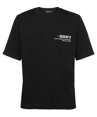 Dolce & Gabbana G8MY9Z HU7F0 PRINTED COTTON FRAYED PATCH T-shirt