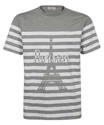 Maison Kitsune GM00108KJ0010 PARISIEN TOWER STRIPED CLASSIC T-shirt