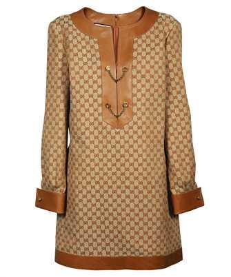 Gucci 655427 Z8AOA GG LINEN CANVAS KAFTAN Dress