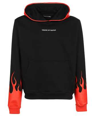Vision Of Super B2FLRED RED FLAMES Hoodie