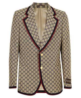 Gucci 654922 ZKU09 GG CANVAS SINGLE BREASTED Jacket