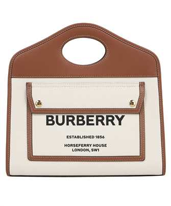 Burberry 8036784 SMALL TWO-TONE CANVAS AND LEATHER POCKET Bag