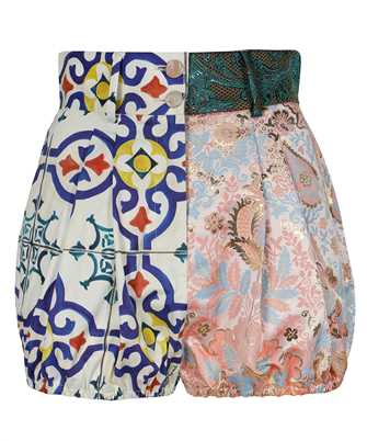 Dolce & Gabbana FTBUQT GDX66 PATCHWORK DRILL AND JACQUARD Shorts