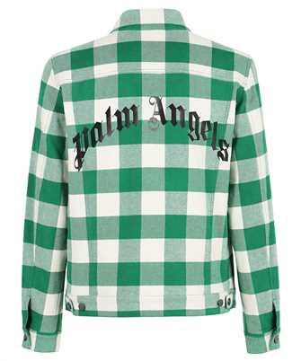 Palm Angels PMEA169F21FAB001 CURVED LOGO CHECK Jacket