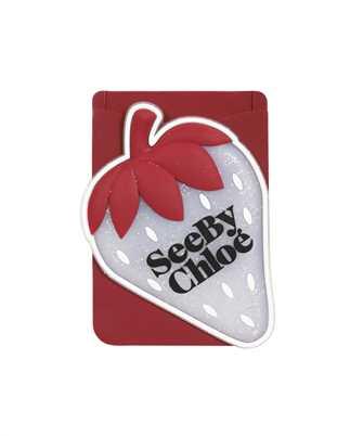 See By Chloè CHS21AK649A08 JARDIN DE ROSES Card holder on phone