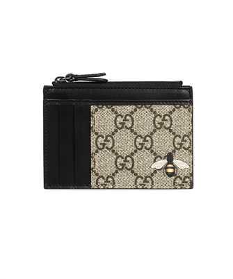 Gucci 597555 KST1N BEE PRINT GG SUPREME Card holder