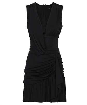 Balmain WF1R5180J191 SHORT ASYMMETRIC JERSEY Dress