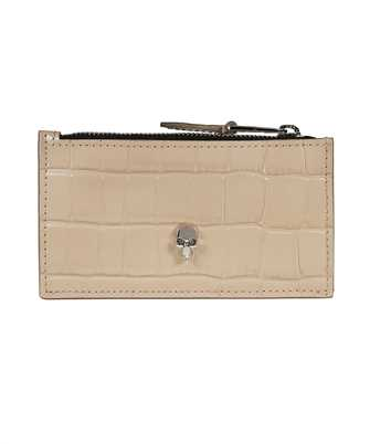 Alexander McQueen 632037 1JMHI SKULL ZIP Card holder