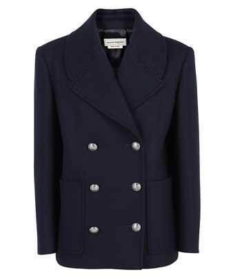 Alexander McQueen 666077 QJACG DOUBLE BREASTED PEA Coat