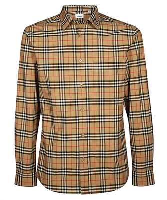 Burberry 8020966 SMALL SCALE CHECK STRETCH COTTON Shirt