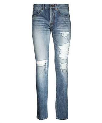 Saint Laurent 551344 YC372 SLIM FIT BIG HOLES Jeans
