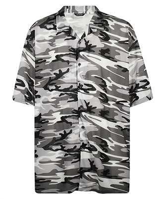 Balenciaga 647651 TJLC5 CAMO MESH OVERSIZED VACATION Shirt