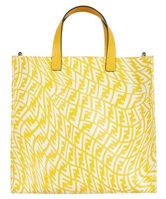 Fendi 8BH357 AFP4 GLAZED CANVAS SHOPPER Bag