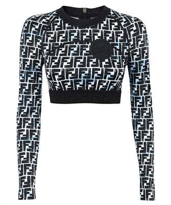Fendi FAF144 ADHH PATTERNED LONG-SLEEVED Top