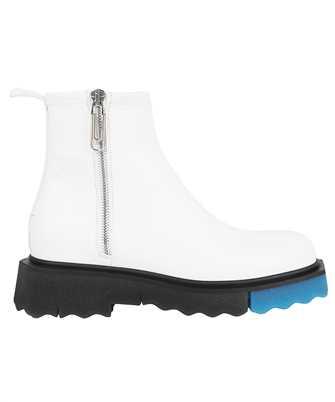Off-White OMID004F21LEA001 SPONGE SOLE LEATHER ZIP Boots