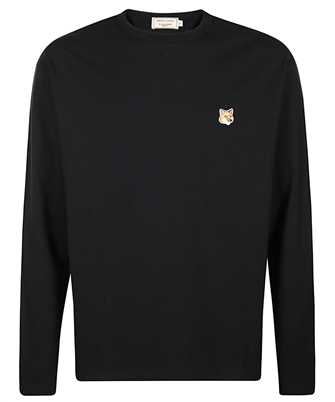 Maison Kitsune FU00163KJ0010 FOX HEAD PATCH REGULAR LONG-SLEEVED Tričko