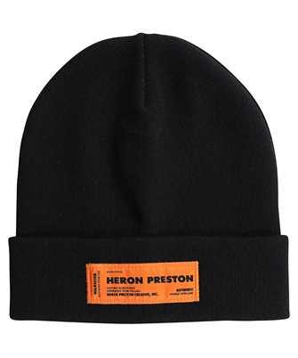 Heron Preston HMLC004F21KNI001 ORANGE LOGO PATCH Beanie