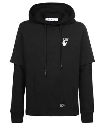 Off-White OMBB087F21FLE005 CARAVAGGIO ARROW DOUBLE SLEEVE Hoodie
