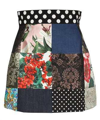 Dolce & Gabbana F4B1GT GDX77 PATCHWORK JACQUARD MINI Skirt