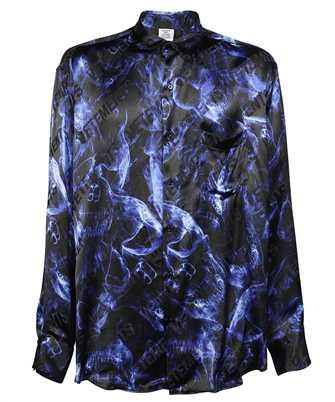 Vetements UA52SH600B BLUE SKULLS FLUID Shirt