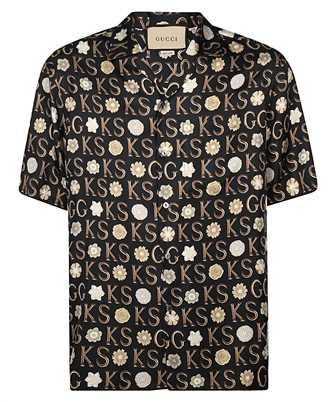 Gucci 644427 ZAGAR KEN SCOTT PRINT SILK BOWLING Shirt