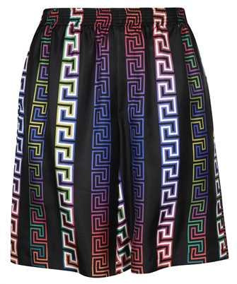 Versace A86432 1A00967 GRECA NEON PRINT SILK Shorts