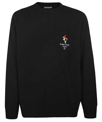Balenciaga 621032 T4104 EMBROIDERED LOGO Knit