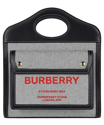 Burberry 8036814 MINI TWO-TONE CANVAS AND LEATHER POCKET Bag