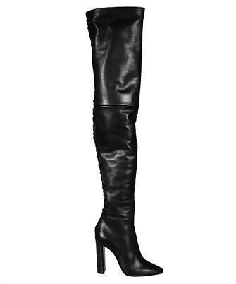 Saint Laurent 632494 1Y801 76 THIGH-HIGH LACED Boots