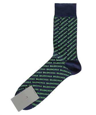 Balenciaga 617766 4A0B0 ALLOVER LOGO Socks