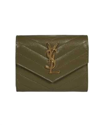 Saint Laurent 403943 BOW01 MONOGRAM COMPACT TRI FOLD Wallet