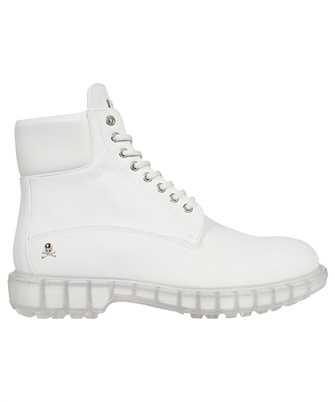 Philipp Plein FAAS MSE0169 PLE010N NABUK LOW FLAT HUNTER Boots