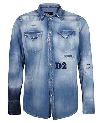 Dsquared2 S74DM0494 S30341 LIGHT WASH CLASSIC WESTERN Shirt