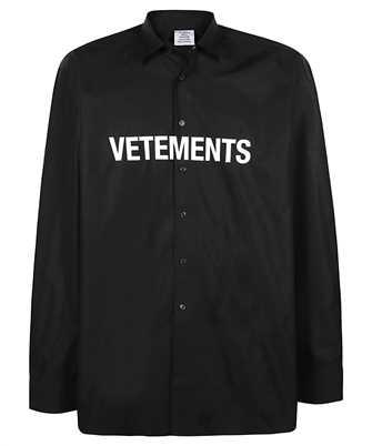 Vetements UE51SH300B FRONT LOGO Shirt