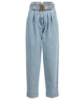 Balmain WF1MH021D138 BOYFRIEND CUT BALMAIN BUCKLE Jeans