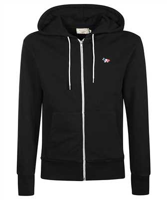 Maison Kitsune AM00304KM0001 TRICOLOR FOX PATCH ZIP Mikina