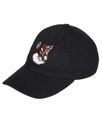 Maison Kitsune GU06118WW0007 LARGE FOX HEAD EMBROIDERY Cap
