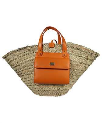 Dolce & Gabbana BB5888 AO698 STRAW KENDRA COFFA Bag